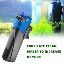 3in1 Fish UV Submersible Aquarium Oxygen Pump Fish Tank Mute Filter Filtration