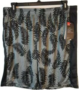 Under Armour Heat Gear Mens XXL Athletic Shorts Gray Black Floral New W/Tags
