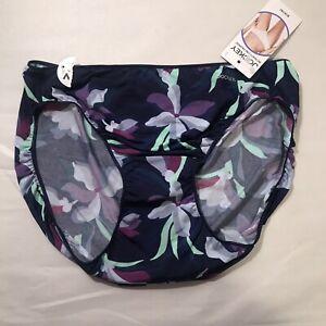 NWT Jockey Nylon bikini panty 5 style 1370 Floral Microfiber Stretch