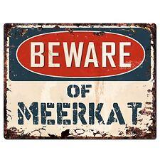 Pp1490 Beware of Meerkat Plate Rustic Chic Sign Home Room Store Decor Gift