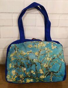 New Almond Tree Blossom Art Van Gogh Black Shoulder Bag Purse tablet  royal blue