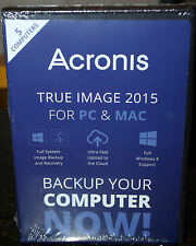 NIB! Acronis True Image 2015 For PC & Mac - 5 Devices