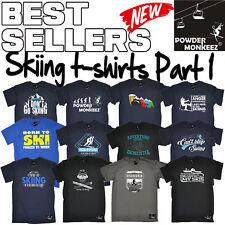 Men's Skiing T Shirts The perfect funny novelty Gift Ski Birthday T-Shirt Pt 1