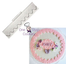 Katy Sue Lace Border VICTORIA 1 1/4 inch Silicone Cake Decorating Mould Art