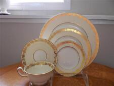 Wedgwood Gold Whitehall cream & white bone china 5 piece place setting W4000