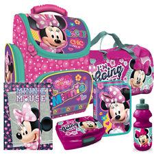 Minnie Mouse Maus Schulranzen Ranzen Schultasche Set mit Sporttasche Brotdose