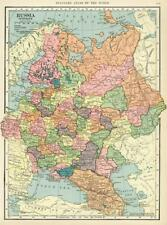 Wall Decor Historical Map of Russia Vintage Art Poster 40x29""