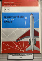 England BEA Airways 1958 Brochure Flight Guide For International Routes