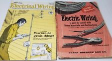 Simplified Electric Wiring Handbook Vintage Manual Sears Roebuck & Co Set of 2