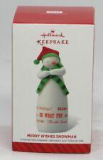HALLMARK KEEPSAKE ORNAMENT~MERRY WISHES SNOWMAN ~ Limited Edition 2014 VIP1401