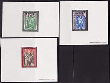 épreuve de luxe  Andorre  série 3 tableaux rétables  de  1971
