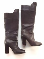 RALPH LAUREN Collection brown high leather boots - size 9B US - bottes longues