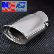 Universal Chrome Stainless Steel Car Rear Round Exhaust Pipe Tail Muffler Tip US