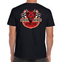 Men's Hotrod 58 T Shirt Speed Demon Live Fast Race Vintage Classic Car Clothing
