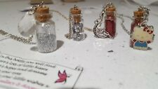 Hand made bottle necklace fairy dust unique gift Hello Kitty Fairy Glitter