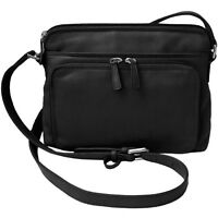New Womens Leather Crossbody Bag Handbag Purse with Organizer