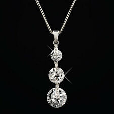 Diamondesque Trilogy Necklace Brought to you by AVON Rhodium/Plated/Diamond/NEW