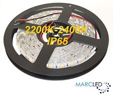 24VDC IP65 SMD5050 LED strip 2200K-2400K, 5m (72W, 300LEDs), very warm white