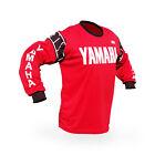 Vintage Style Red Yamaha Motocross Jersey MX Enduro AHRMA motorcycle Bob Hannah