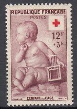 FRANCE TIMBRE NEUF N° 1048 ** CROIX ROUGE L ENFANT A LA CAGE