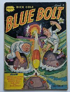 Blue Bolt Vol. 2 No. 10 (Mar 1942, Novelty) Good 2.0 Scarce