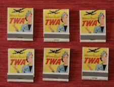 TWA Match Books Six Pack Air Freight  1950-1960's