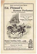 Vintage, Original, 1895 - Ed. Pinaud's Roman Perfumes Ad - Smelling Salts