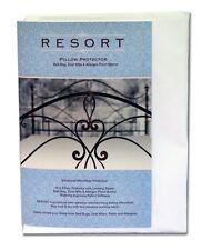Resort Pillow Protector Microfiber Zip Cover Dust Mite Allergen Proof Standard