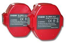 2x Batteria 3000mAh 14.4V Ni-Mh per Makita 6281DWPE