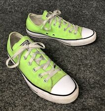 Converse All Star Low Tops Lime Green Sneakers Shoes Mens 7 Womens 9 In EUC