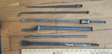 Vintage steel tools welding auto body chisels, pry bar