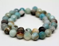 Faceted Amazonite Round Beads For Jewelry Bracelet Necklace Beadwork 6-12mm