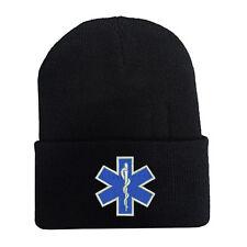 EMT EMS Emergency Medical Services Paramedic CUFF FOLD LONG BEANIE WINTER HATS