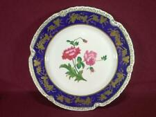 "#6 CHELSEA HOUSE K494 FLORAL DECORATIVE DINNER PLATE 10.75"" - COBALT/GOLD"