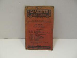 """Vintage OEM Carter Carburetor Gasket Kit NO.131 1938 Hudson """"6"""" Terraplane  NOS"""