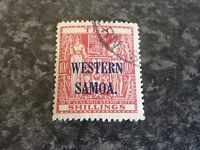 WESTERN SAMOA POSTAGE STAMP SG191 10/- CARMINE/LAKE VERY FINE USED