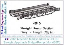 EE 7068 N Marklin HO 3R Metal Bridge Straight Ramp 3 Rail New Condition OBX of 2
