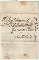 179- TIVERTON PMK WRAPPER FREE TO BISHOP OF BATH & WELLS LONDON + TIME POSTMARK