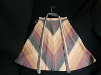 Vintage A-Line Pattern Skirt With Cloth Belt Hippy Womens Retro Disco