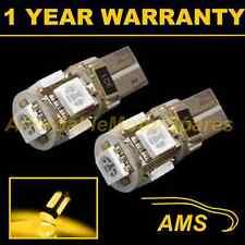 2x W5w T10 501 Canbus Error Free Xenon Amber 5 LED lado Repetidor bombillas sr101302