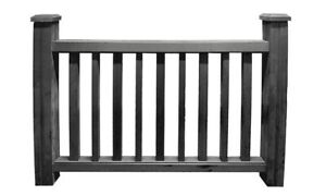 Black Composite Decking Handrail Kit with 2 x Posts