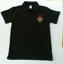 Ed Hardy Boy's NOIR Josh Tiger Polo T Shirt Taille Large L 11 12 ans NEUF
