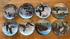 """Set of 8 - 8� Danbury Mint Plates: """"Ducks Taking Flight"""" by David Maass"""