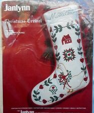 "Janlynn Christmas Crewel Goose Stocking KIT #50-615   10 1/4"" x 15"""