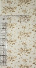 Vintage Quilt Doll Clothing Cotton Fabric 1/2 Yard Creme Tan Floral True NOS