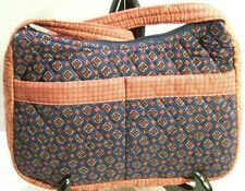 Quilted Shoulder Bag Purse Red White Blue Calico Print New Pockets Zip Summer