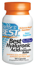 Best Hyaluronic Acid with Chondroitin Sulfate - Doctor's Best - 180 Capsules
