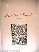ROSE TRA I TEMPLI Antologia Collana Paestum 1976 Carmine Manzi Poesia Salerno di