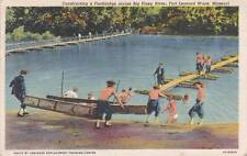 Vintage POSTCARD c1944 Soldiers Big Piney River FOR LEONARD WOOD, MO 14941