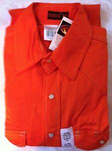 Rasco FR ORANGE FIRE RESISTANT MEN'S Work  Shirt NWT